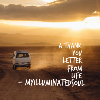 A thank you note from life